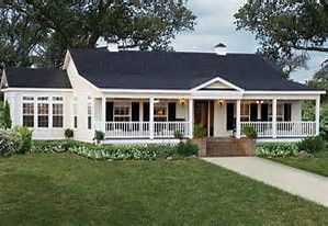 Image Result For Manufactured Homes With Wrap Around Porches Florida Ranch Style Homes Modular Home Floor Plans Farmhouse House