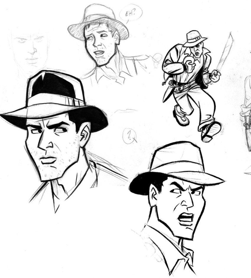 Pin By Cinemobil On Comics Noir Indiana Jones Sketches