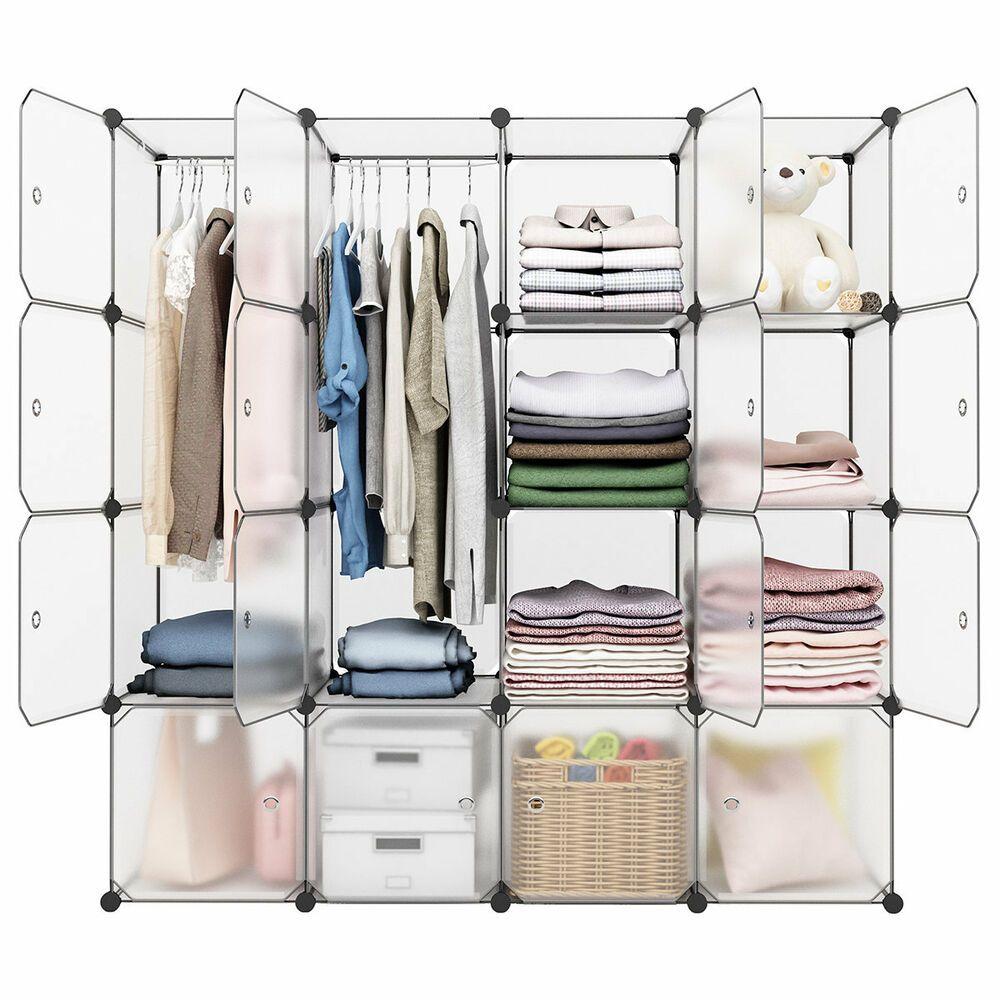 Carey 58 W 16 Cube Diy Modular Shelving Storage Organizer Extra