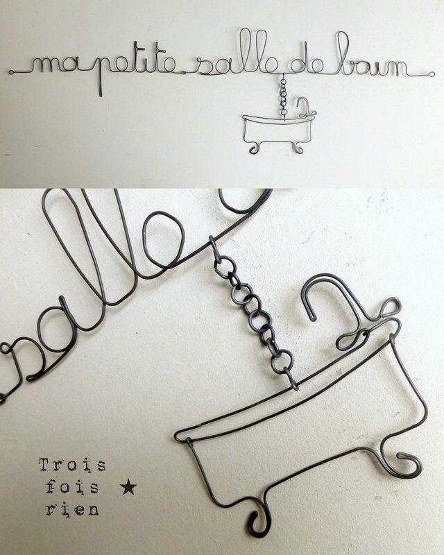 Messages à accrocher aux murs ou aux portes objets à fabriquer