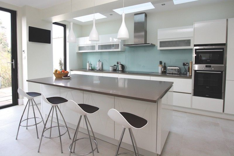 Grey And White Kitchen With Island grey and white high gloss kitchens - google search | design