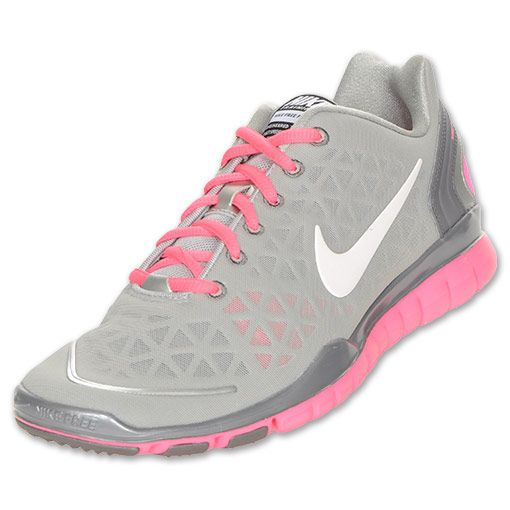 Nike Free TR Fit 2 Women's Training Shoes | FinishLine.com | Silver/Pink