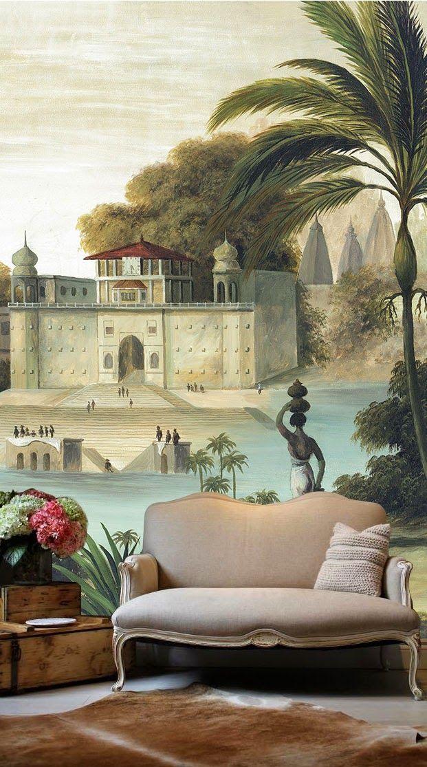 British Colonial Wallcoverings wallpaper Tropicalmural