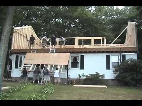 Raising The Roof In One Day Mobile Home Roof Ranch House Ranch Remodel