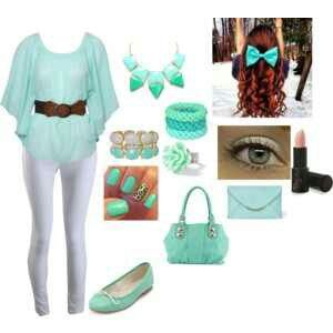 Mint Green Outfit Spring Nails Makeup Accessories To Match