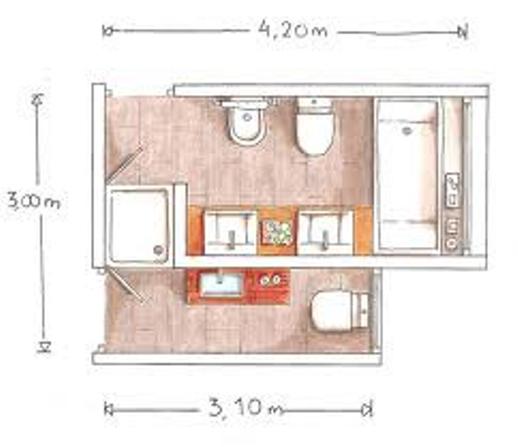 Baño Pequeno Dimensiones:Hay baños modernos en los que se pueden aplicar el criterio de duchas