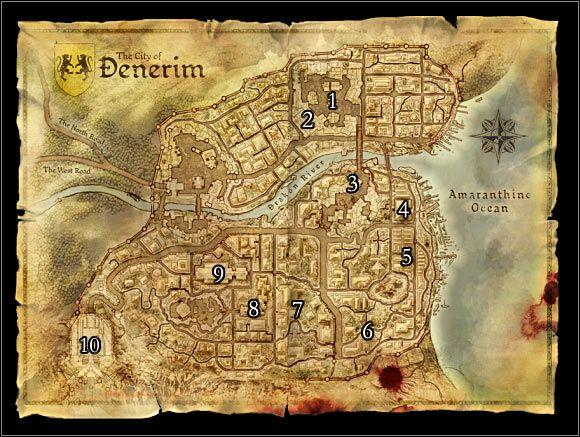 World Map 2 Denerim Maps Dragon Age Origins Game Guide And