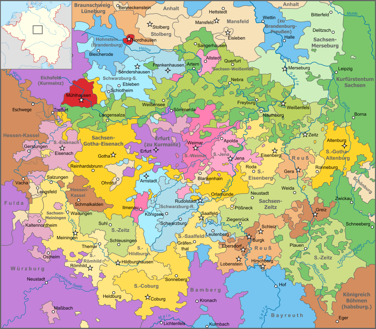 Map of Thuringia 1680 Maps Pinterest History and European history