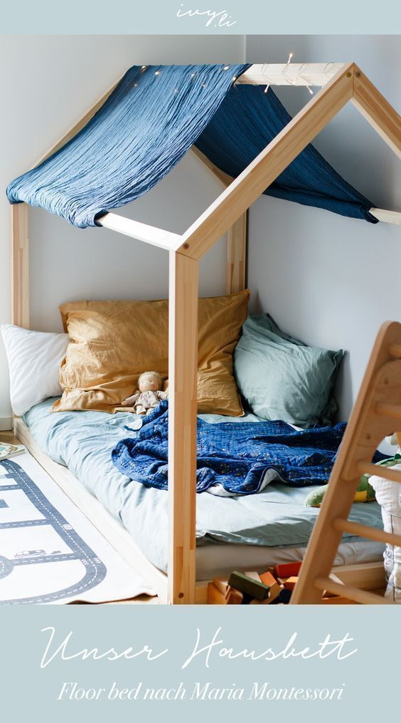 Photo of House bed for children Floor bed after Maria Montessori