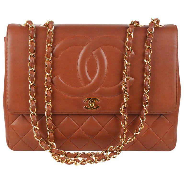 Chanel Structured Shoulder Bag Vintage Quilted Leather