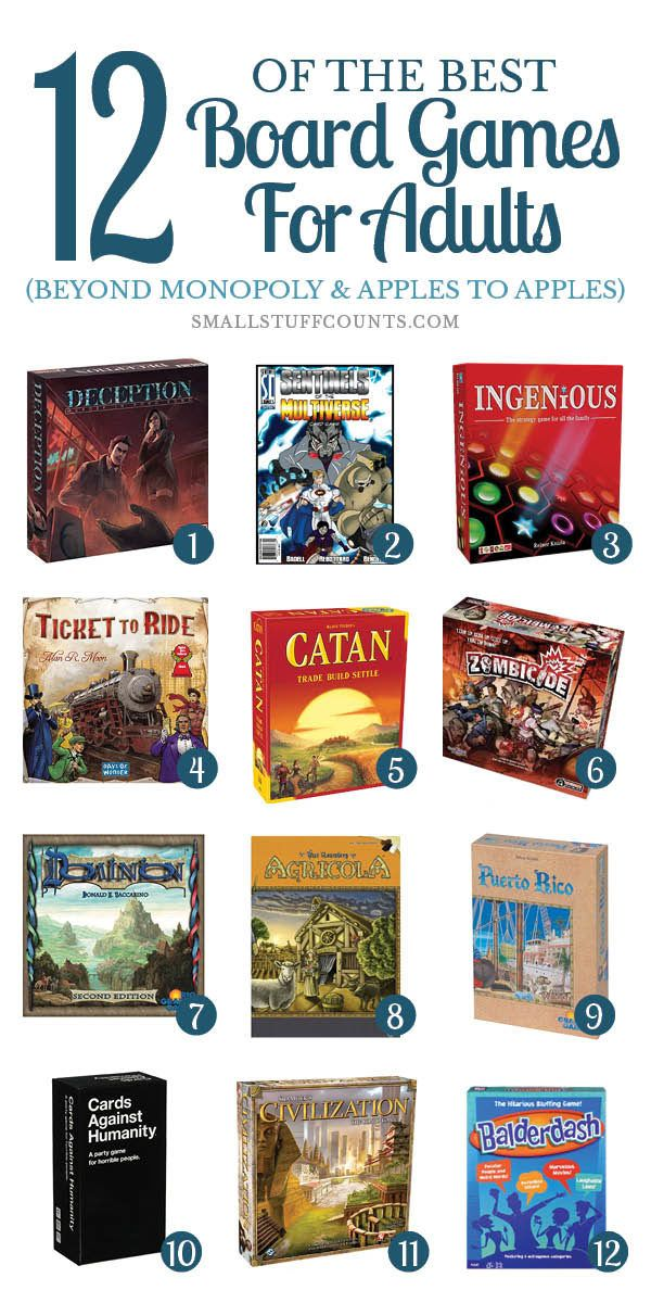 Here are some of the best board games for adults! These are such fun and unique gift ideas for husbands, boyfriends, siblings and friends. Click to check out the gift guide.
