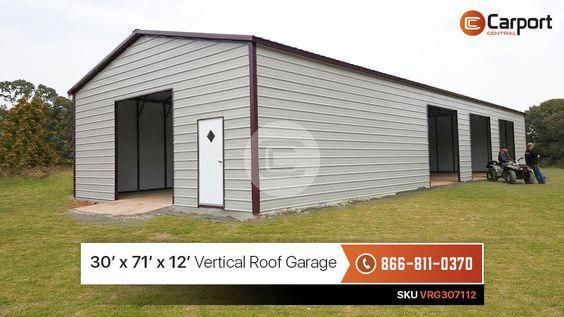 Deposit 3 303 00 Down Payment And Get This 30 X 71 X 12 Steel Garage With Free Delivery And Instal Metal Buildings Metal Shop Building Metal Building Homes