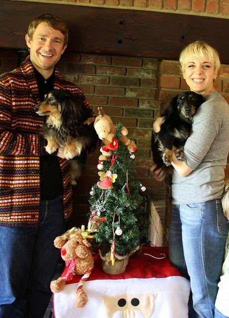 Martin Freeman, Amanda Abbington, Archie, & Jodie by natalya.anderson, via Flickr MERRY CHRISTMAS!!!!!