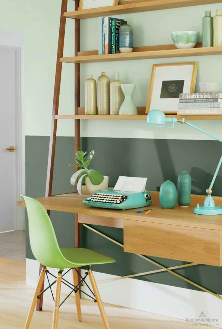 upper wall color crystalline lower wall color cushing on green office paint color id=90833