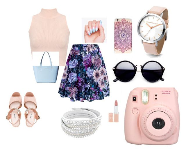 """""""just for holidaus"""" by sikou on Polyvore featuring WearAll, Fujifilm, Miu Miu, Rimmel and Kate Spade"""