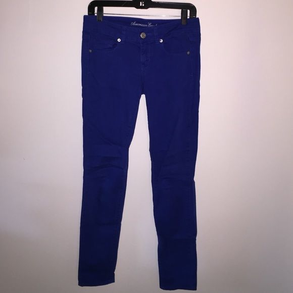 American eagle jeans AE royal blue skinny stretch full-length pants American Eagle Outfitters Pants Straight Leg