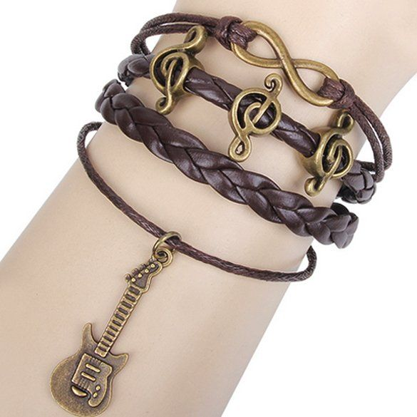 Fashion Infinity Alloy Anchor Rudder Leather Friendship Love Couple Charm Bracelet