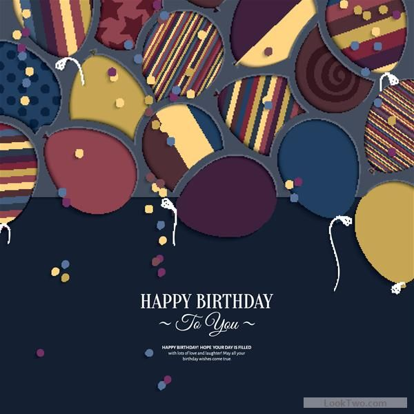 Free Template birthday greeting card vector material 09 vector - birthday greetings download free