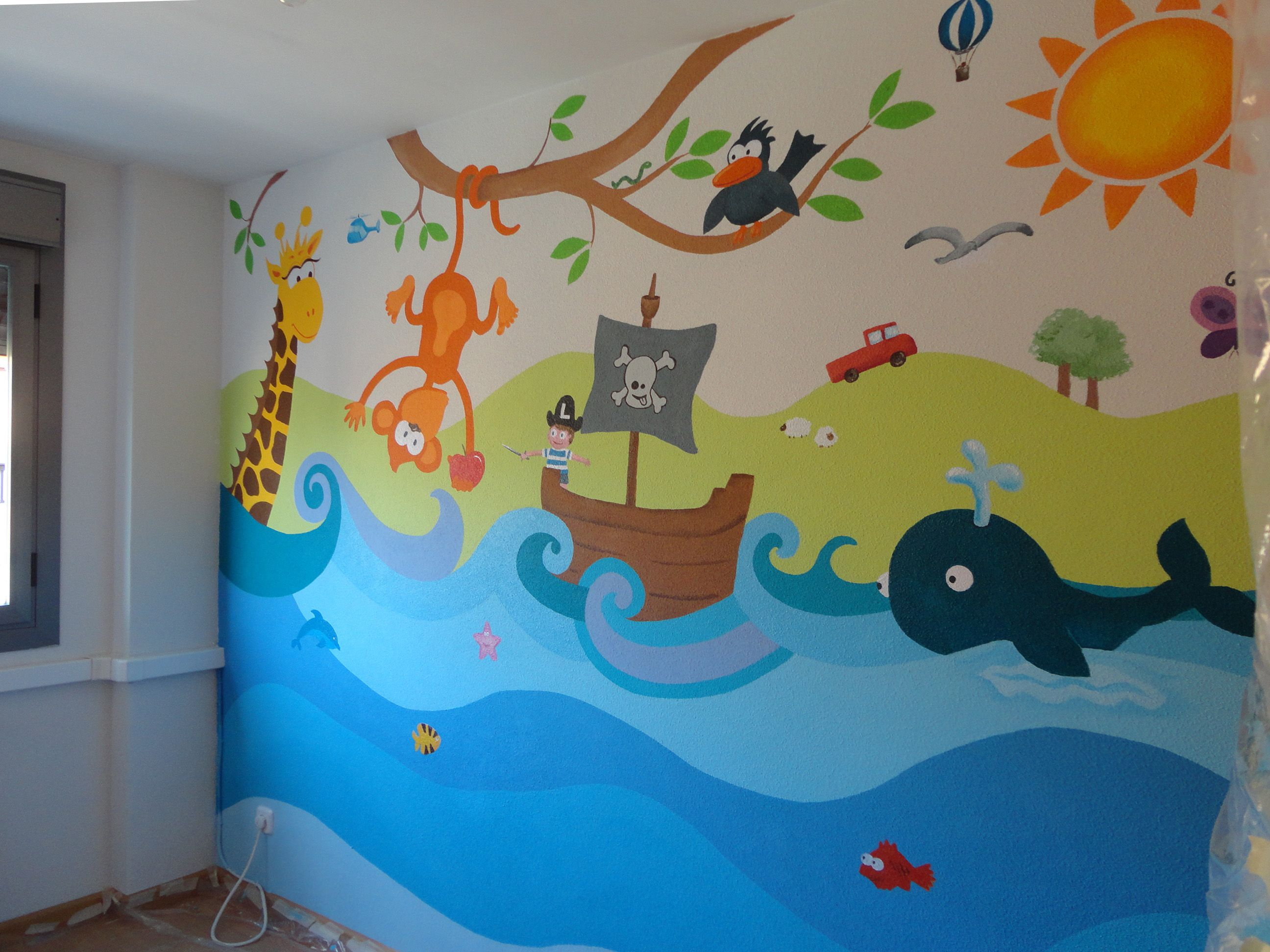 Decoramos La Habitacion De Los Ninos Decoracion Infantil Paredes Murales De Pared Para Ninos Mural Infantil