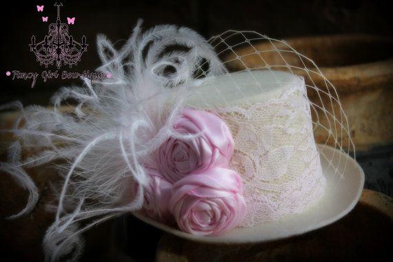 mini top hat fascinator photo prop vintage by fancygirlbowtique, $20.00
