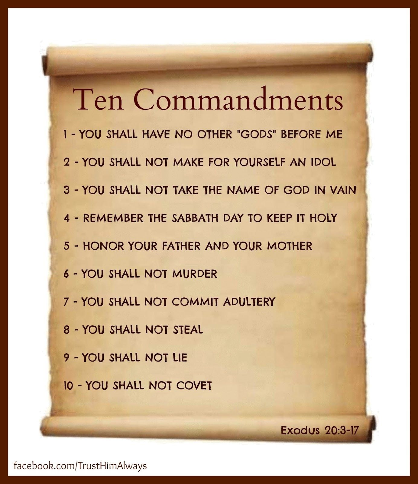 Poster Of The Ten Commandments Self Punishment