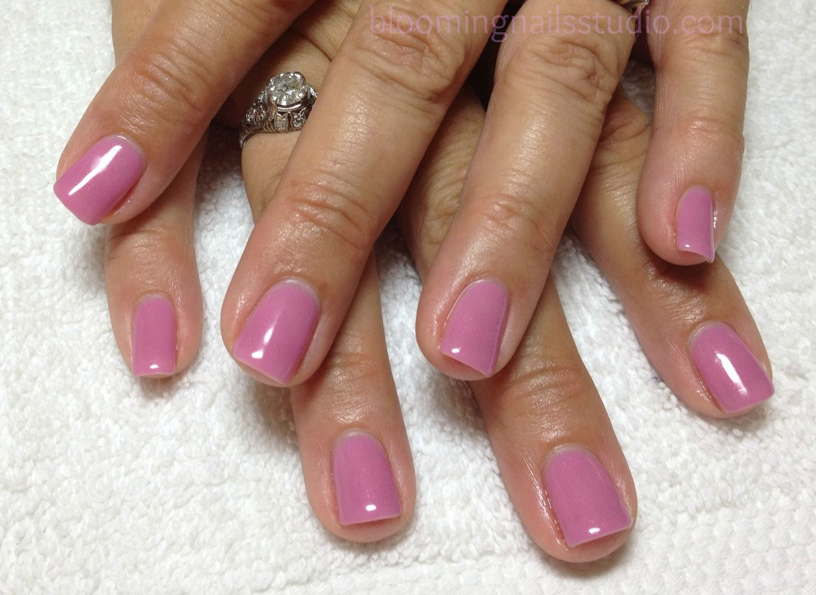 natural nails | Lavendar gel overlay on a natural nail. | classic ...