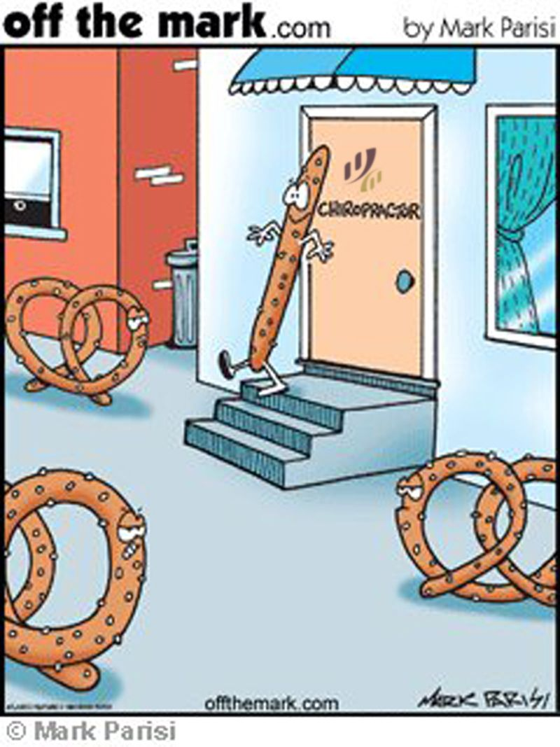Pretzel after seeing our Chiropractor at Kore Chiropractic