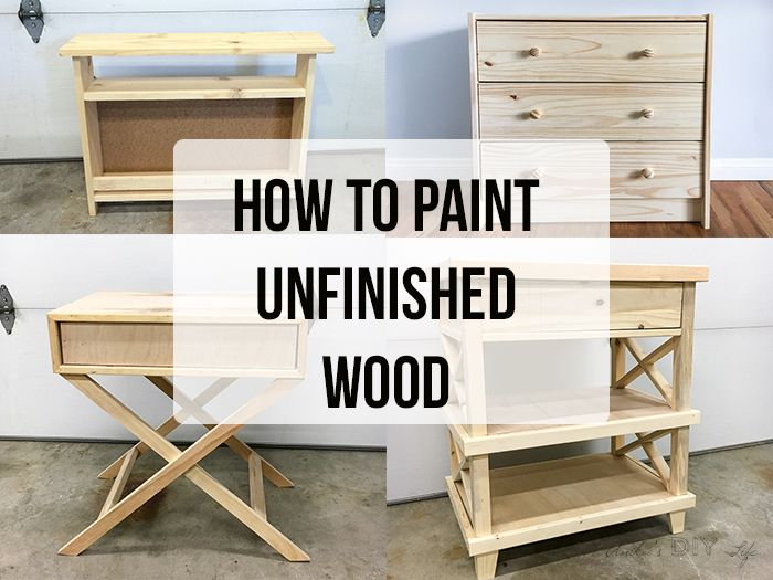 How To Paint Unfinished Pine Furniture Projects To Try
