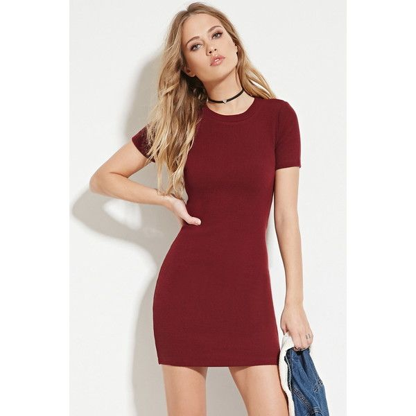 35dc10312f Forever 21 Women s Zip-Back Mini Dress ( 15) ❤ liked on Polyvore featuring  dresses