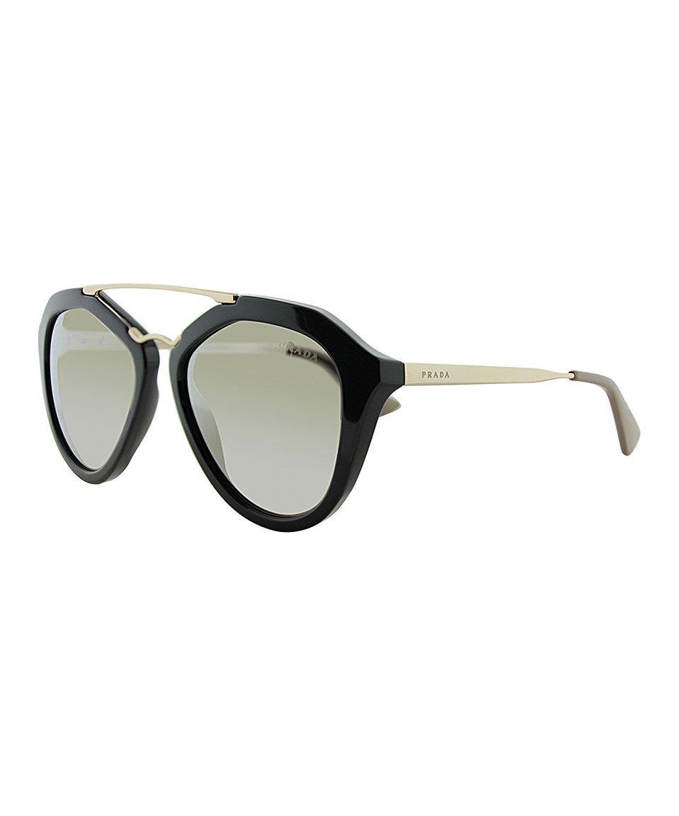 f8a290dd29b Loving this Prada Black Aviator Sunglasses on  zulily!  zulilyfinds ...