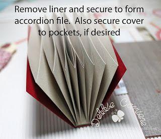 a simple diversion: envelope pockets, accordion folder tutorial at The Kraft Journal