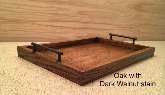 19 x 13 x 1 5 Large Oak or Cedar Wood Serving Tray