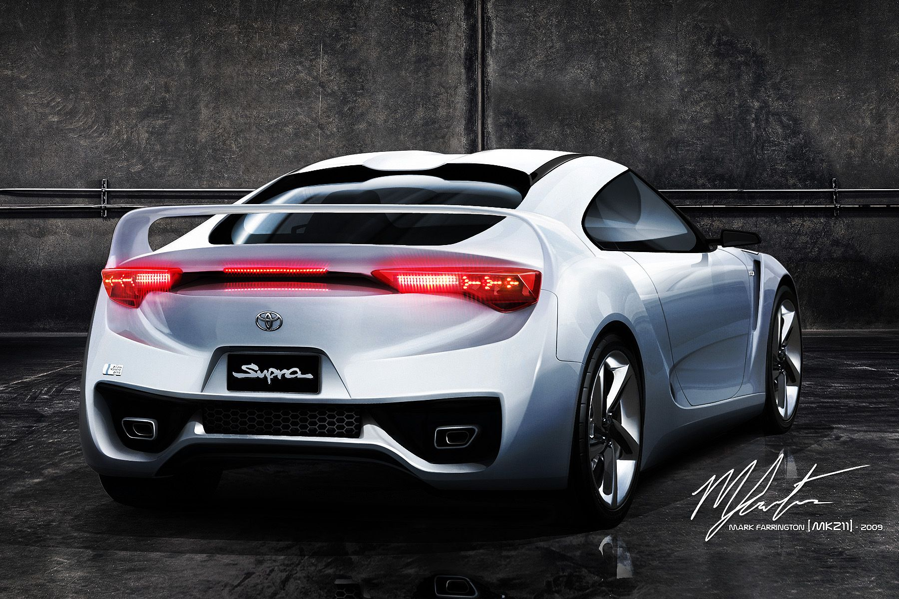 Exceptionnel The Rear View To Complement The First View I Did Of This Concept. (Rear  View Based On Toyota FT HS Concept) Base : [link] Toyota Supra 2011 Concept