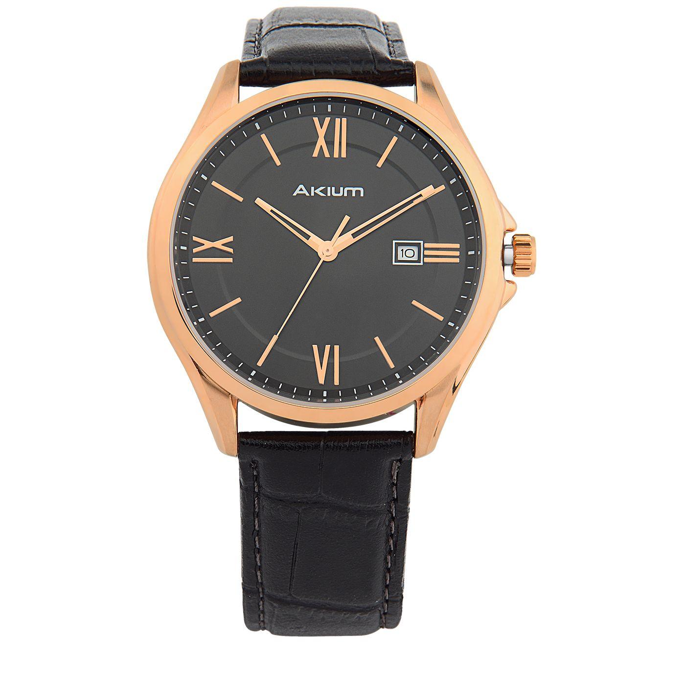 85090d41627 Relógio Akium Masculino Couro Preto - 1Y09G-01-R-G