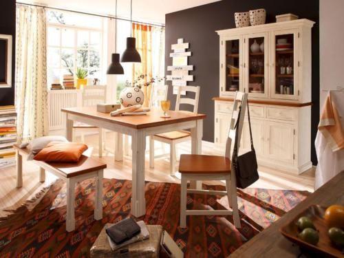 Esstisch Tisch Landhaus Vintage weiß 160 90cm NEU in Nordrhein - esszimmer weis landhaus