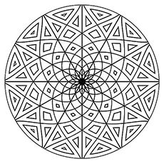the flower circle shape this website has so many great coloring pages for - Circle Coloring Pages Toddlers