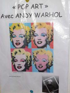 Pop art à la manière de Ady Warhol