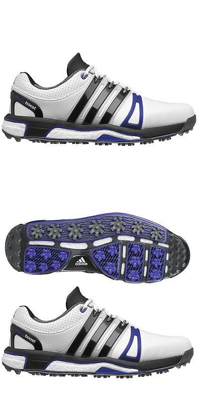 sporting goods: New 2016 Adidas Mens Asym Energy Boost Lh Golf Shoes White  Black -
