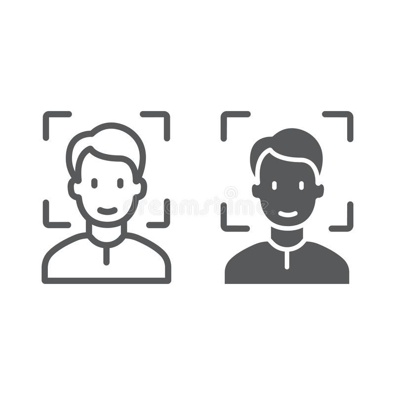 Face Id Line And Glyph Icon Face Recognition And Face Identification Face Scan Sponsored Paid Sponsored Line Glyph Icon Face Recognition Face Icon