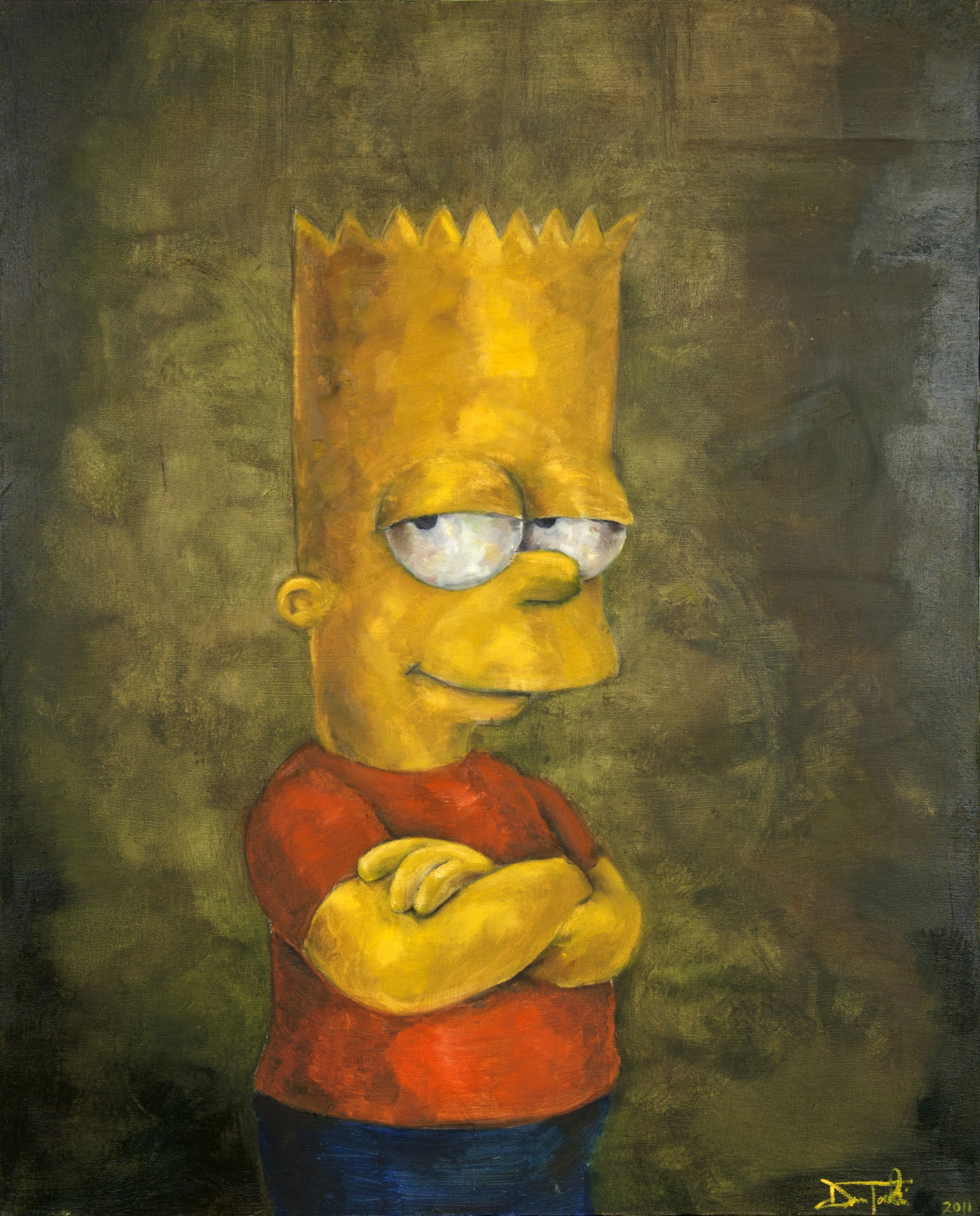 Bart Simpson  Oil Painting  24X30