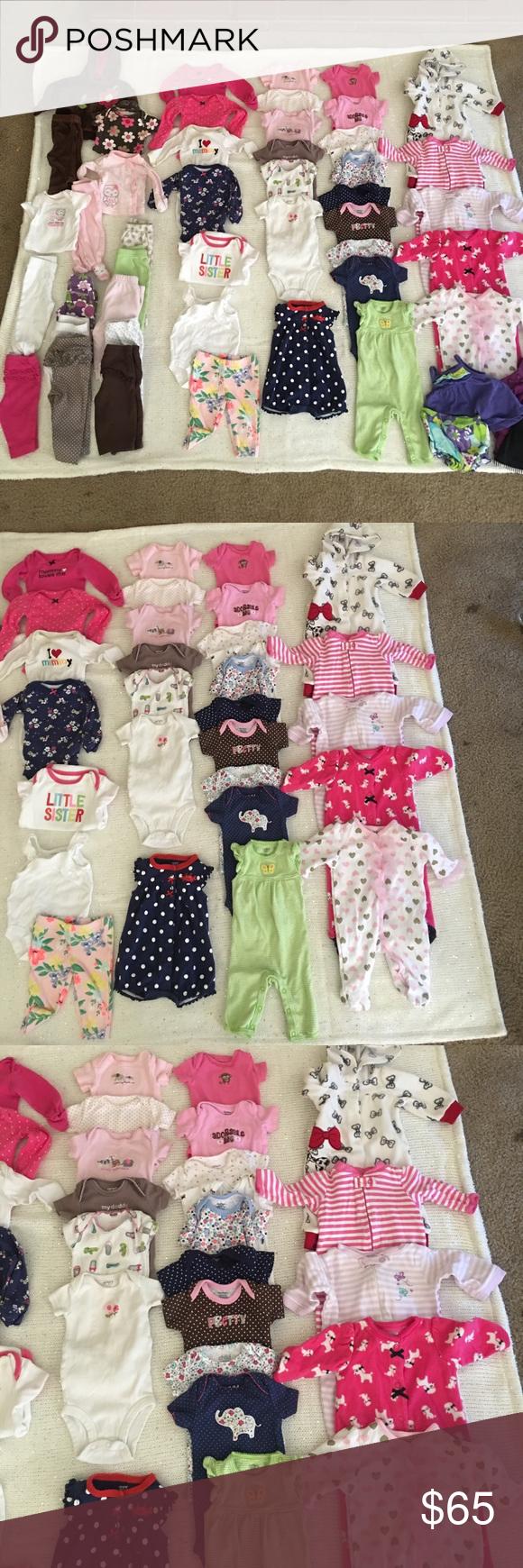 Baby Girl Clothes Bundle Lot Newborn 50 Pieces Baby Girl Bundle Lot