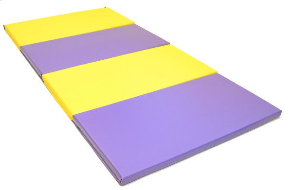 Clearance Blue 4 X 8 X 1 3 8 Advanced Level Folding Gymnastics Mat Gymnastics Mats Gymnastics Equipment For Home Gymnastics