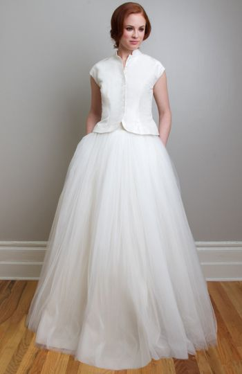 Imogene Lucienne Wedding Dress Separates Attract Attention In This Vintage Inspired Combination On