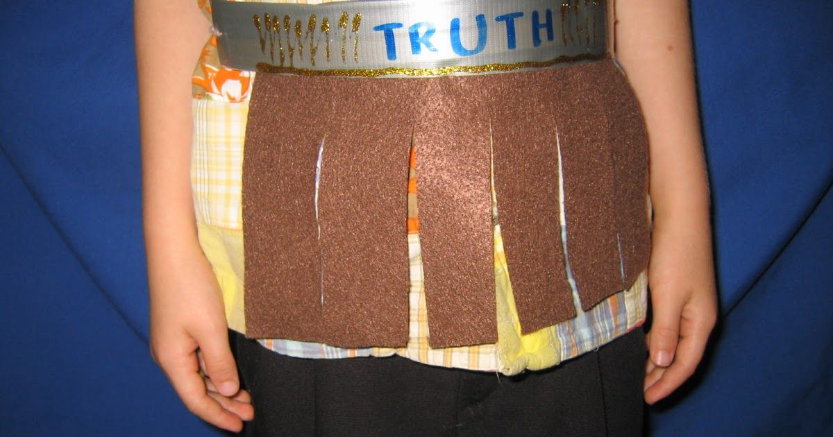 We made a Belt Of Truth  for Jr. Church.      Items We Used:   1.  Brown Yarn  2.  Duct Tape  3.  Sharp Scissors  4.  Brown Felt (Fun F... #churchitems