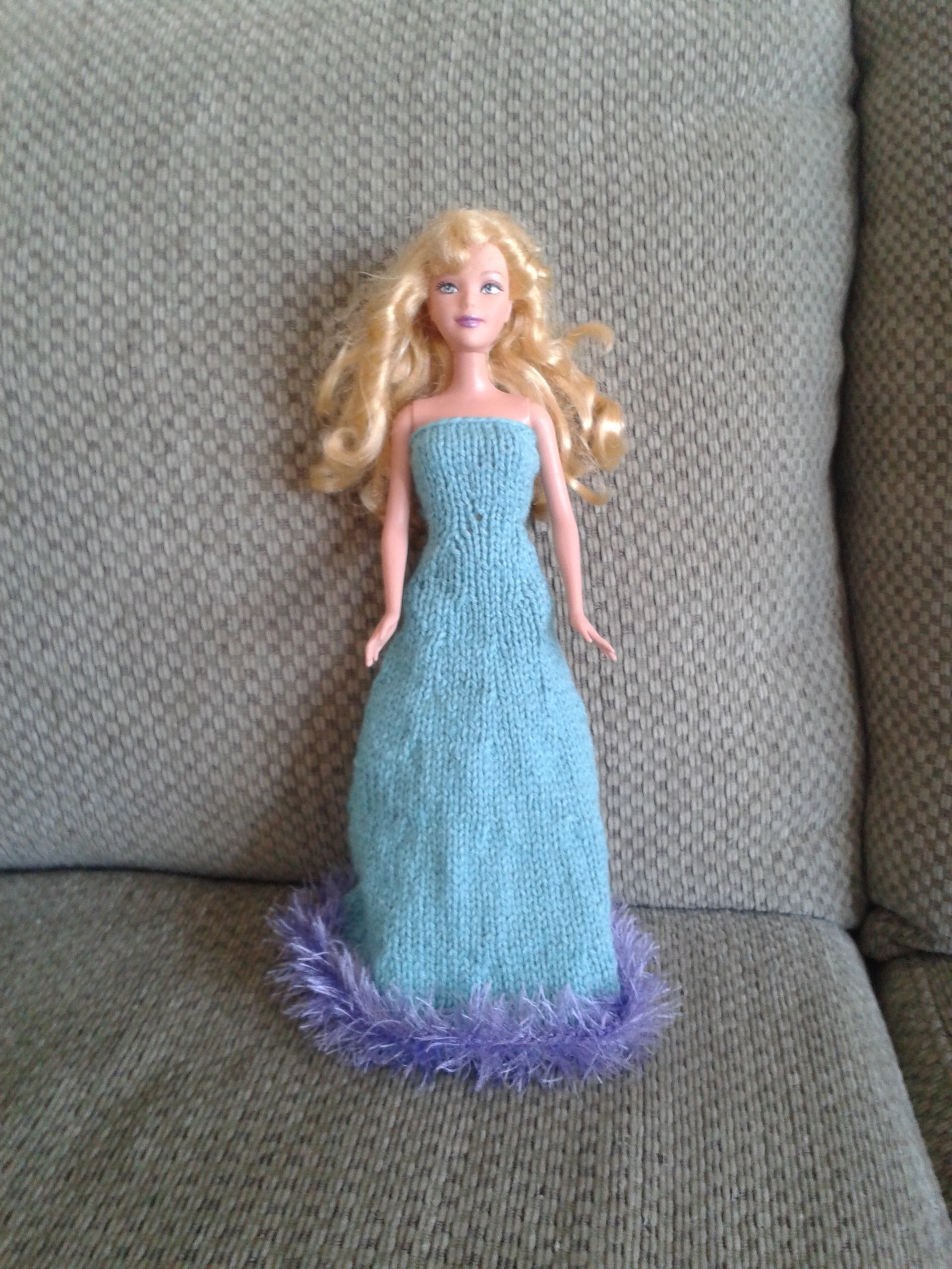 Knit Barbie ballgown free pattern | Free pattern, Barbie and Gowns
