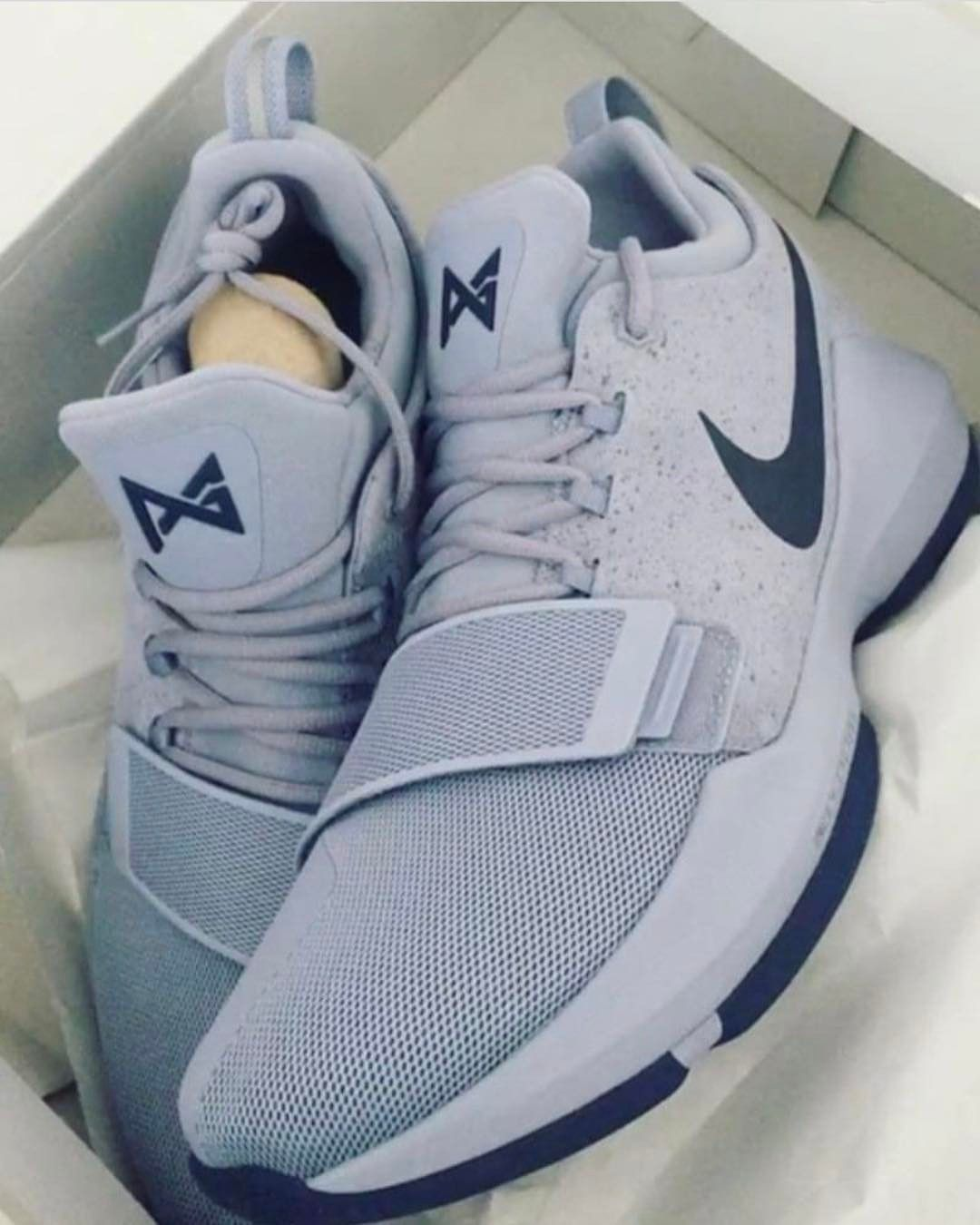Popular 2017 New Basketball Style Nike PG 1 Glacier Grey Armory Blue May  2017