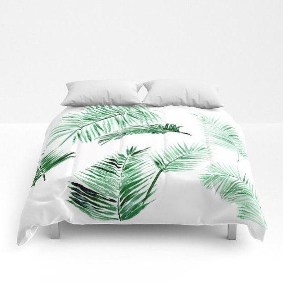 Palm Leaf Comforter Green White Comforter Leaf Full Modern Comforter Comforters Pink Comforter