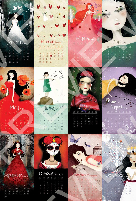 2013 Calendar | Ma petite Théière, Anne-Julie Aubry