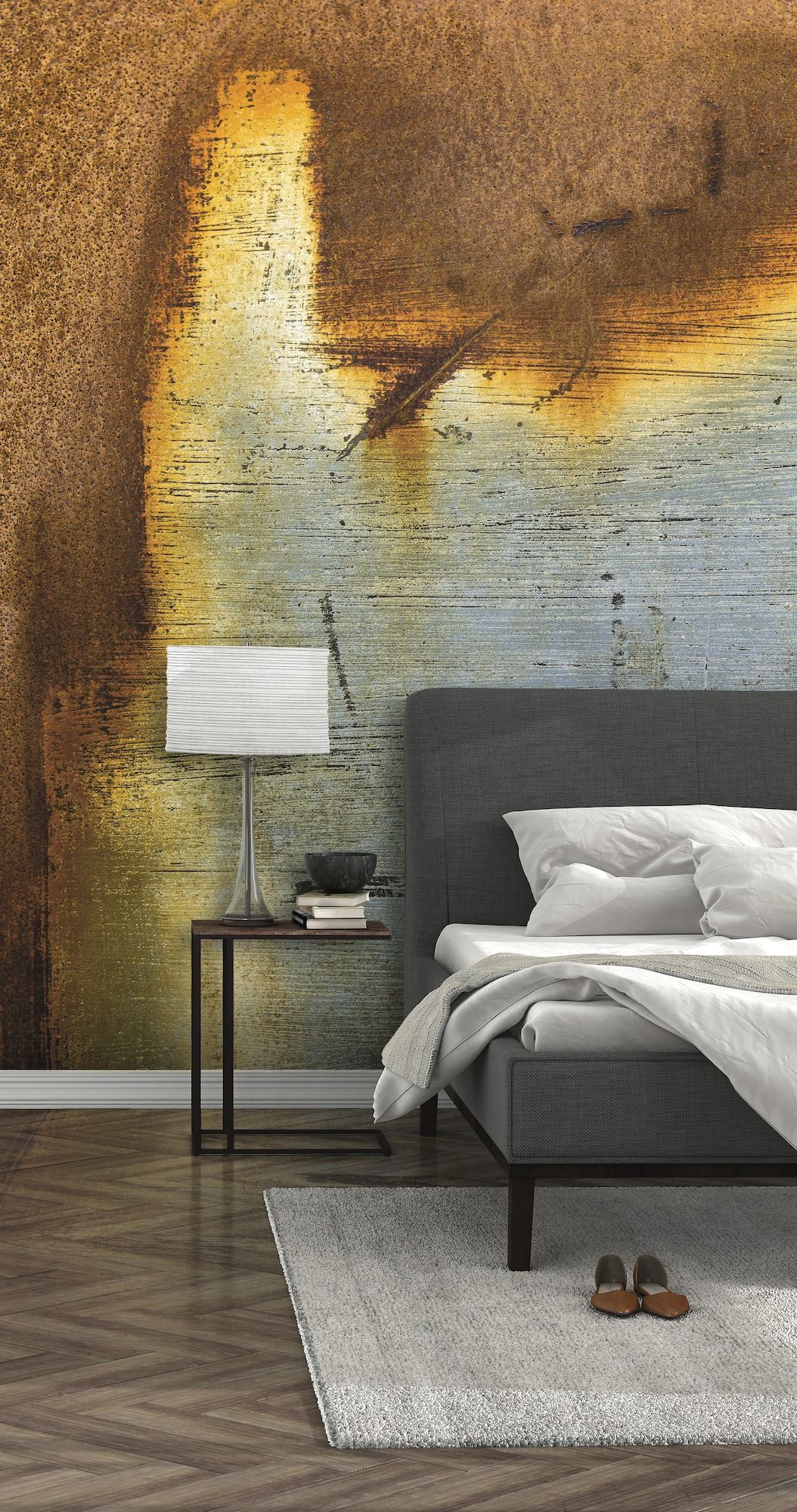 Beautiful Vivid Walls Provide A Point Of Interest That Works Remarkably Well In Homes  With Modern Furnishings