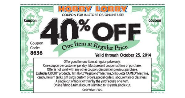 Hobby Lobby 40 percent off all Christmas and home decor this week ...